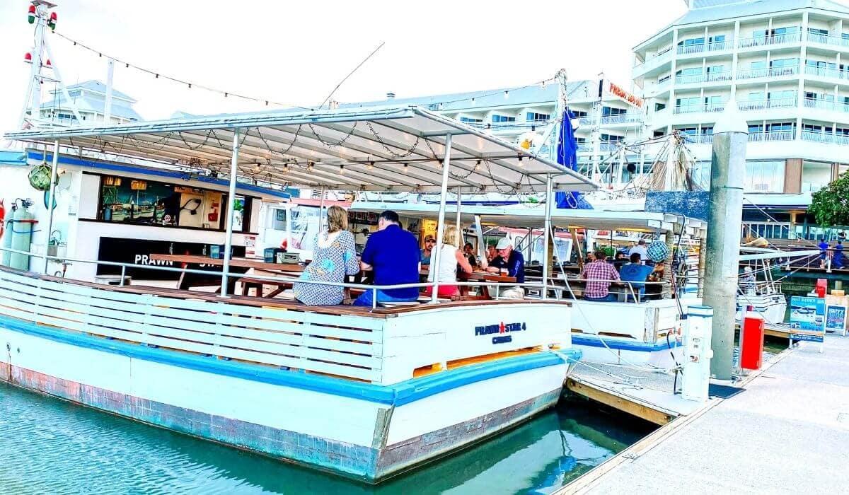 Prawn star restaurant in cairns on boat
