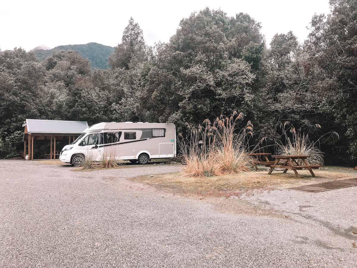Fox Glacier Lodge Campervan Park best campsites south island new zealand