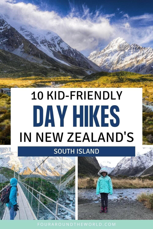 New Zealand south island walks & hiking tracks