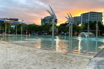 1 week cairns itinerary - cairns lagoon at twilight