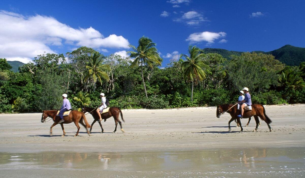 horse riding at Cape Tribulation