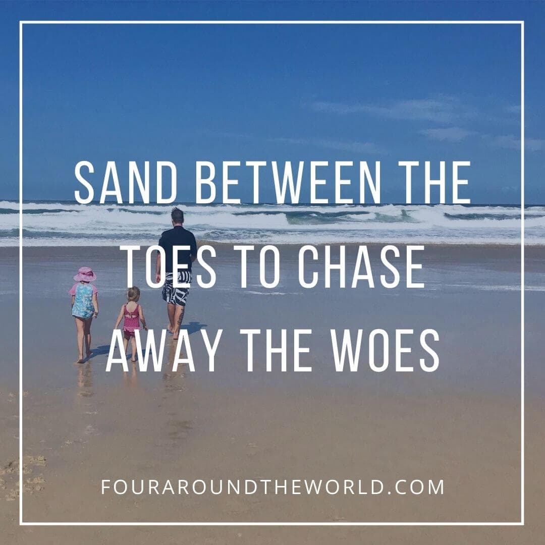 sand between the toes