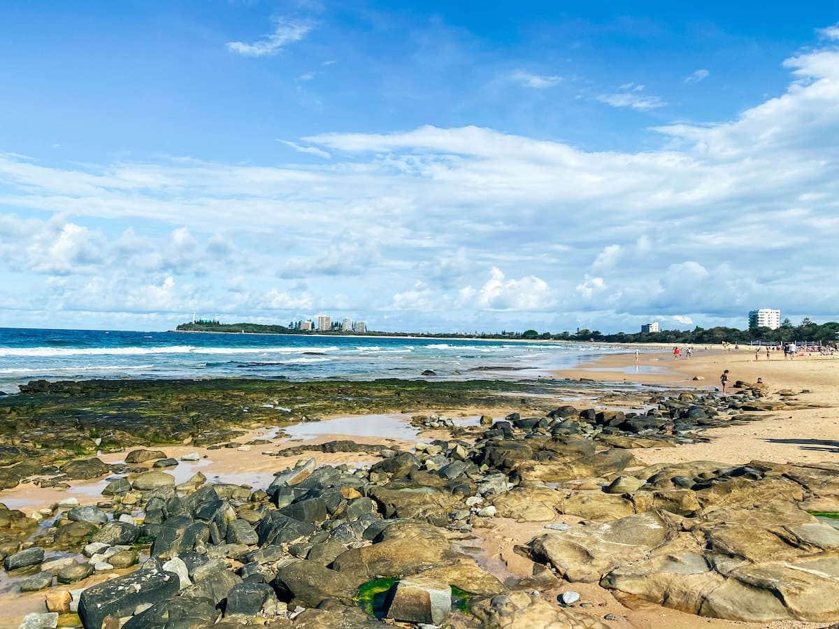 Mooloolaba beach sunshine caost queensland