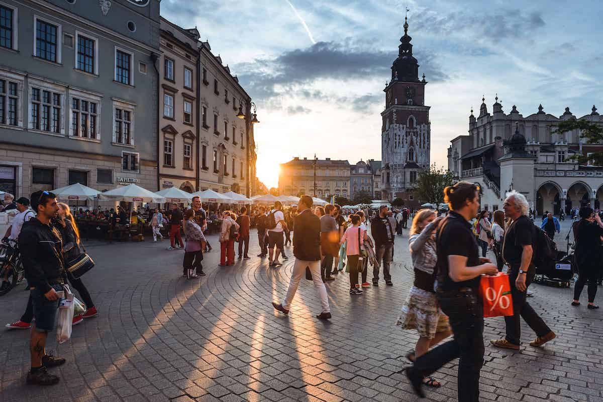 krakow town square poland travel guide