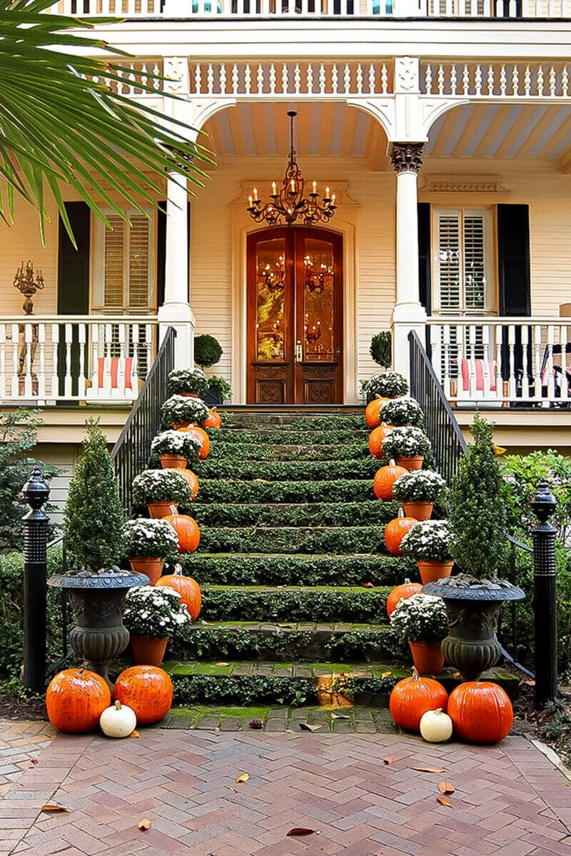 savannah at halloween with decorations