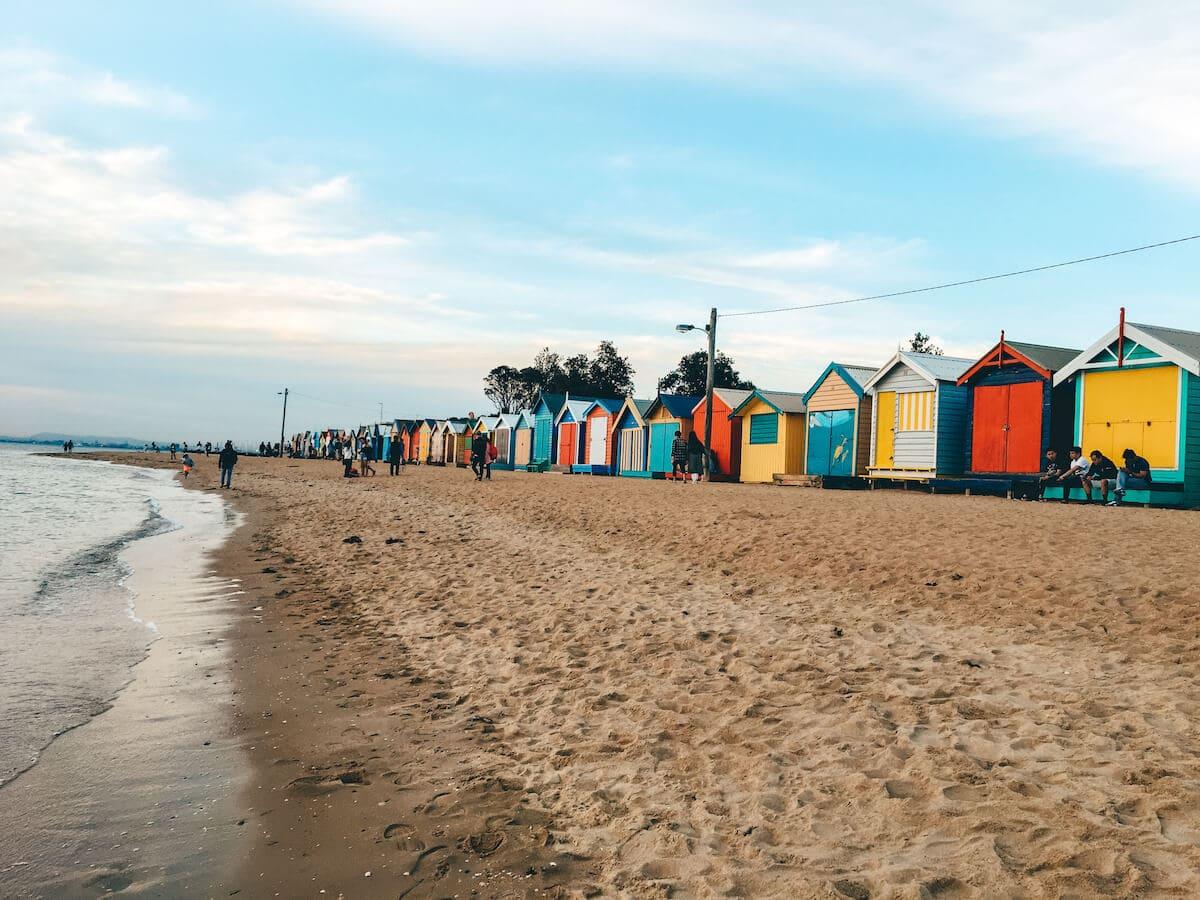brighton beach with huts