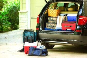 road trip essentials packing car