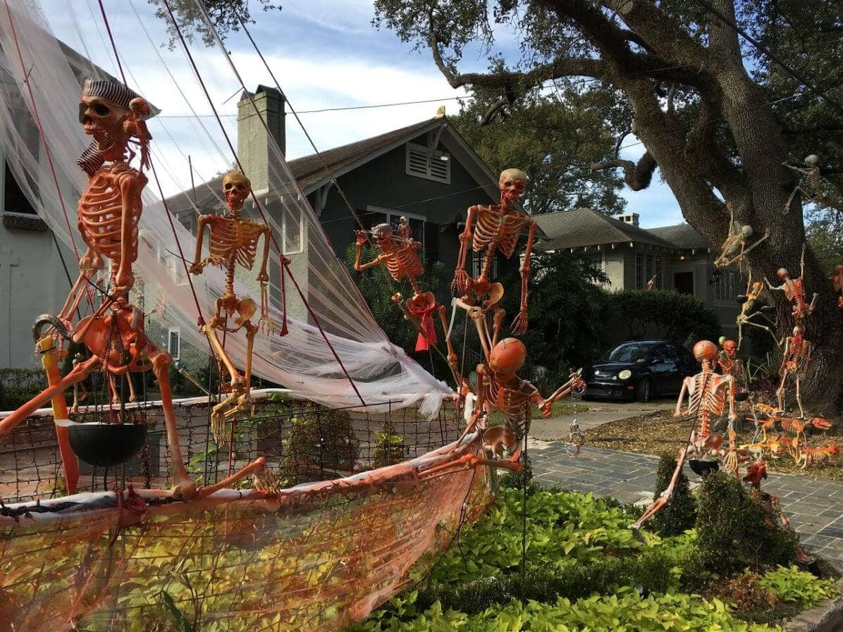 skeleton decorations in new orleans