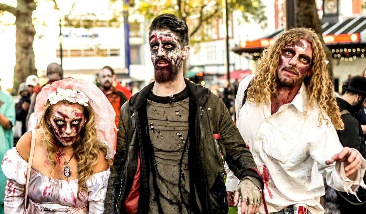 world zombie day halloween in london