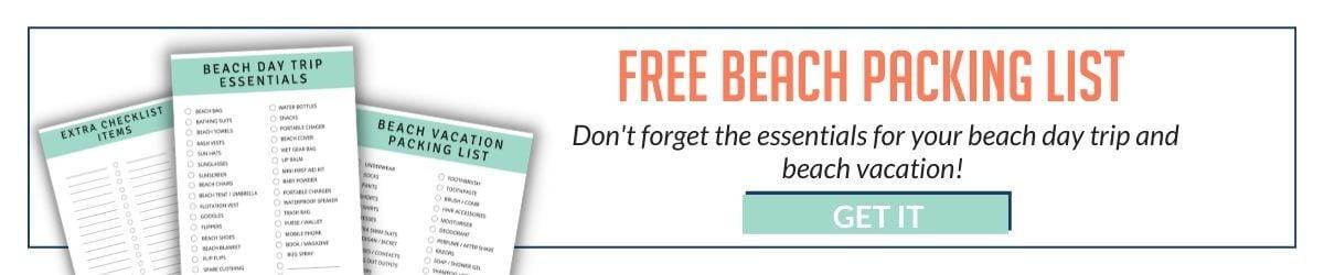 beach packing list banner