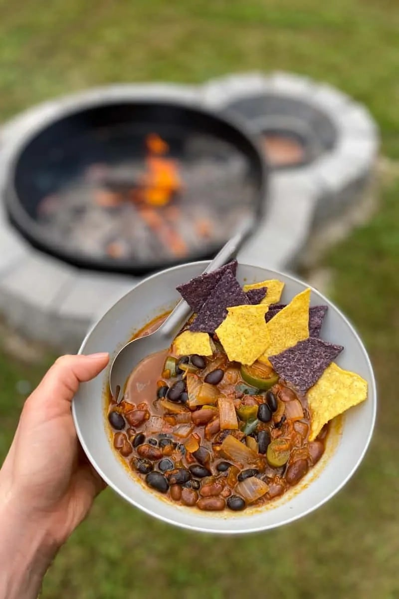 vegan campfire chilli