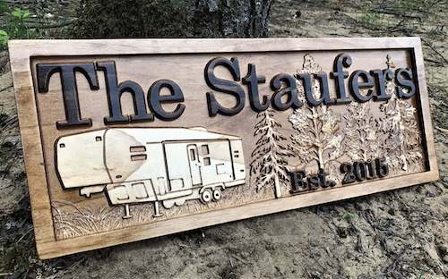personalised rv sign