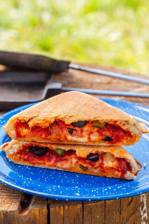 pie iron pizza pockets