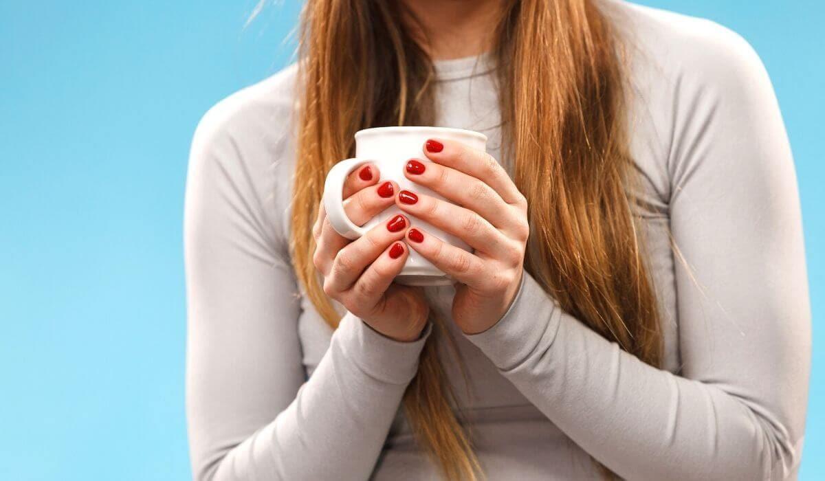 women wearing thermals drinking coffee